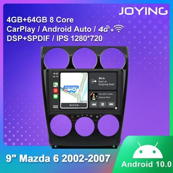 JOYING car radio player GPS navigation stereo autoradio 4GB RAM+64GB ROM 1280*720 IPS for Mazda 6 2002-2007 with carplay&4G&RDS image