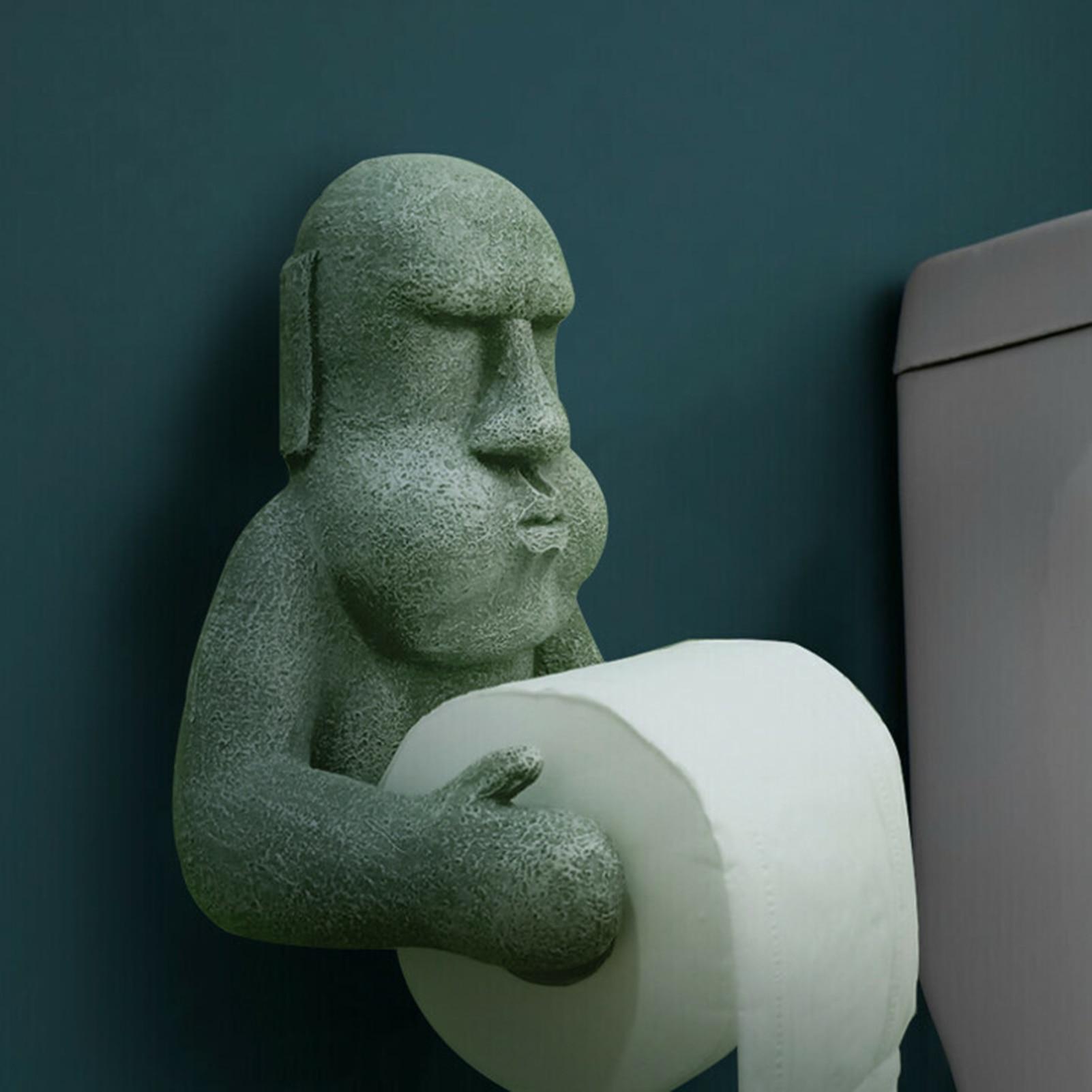 Toilet Paper Holder Easter Tissue Holder Towel Hanger Organizer Mount Bathroom Wall-mounted Tissue Holder Creative Toilet Roll