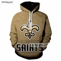 New Orleans Saints Pattern 3D Print Jacket Women/men Sportswear Hoodie Youth American Ball Team Oversized Sweatshirt Tracksuits