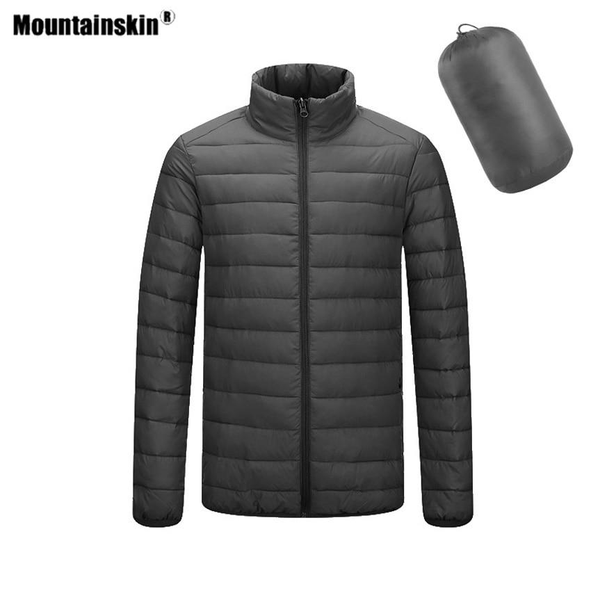 Mountainskin Men's Hiking Jacket Winter Standing Collar Coats Outdoor Sports Camping Trekking Climbing Male Down Clothing VA630