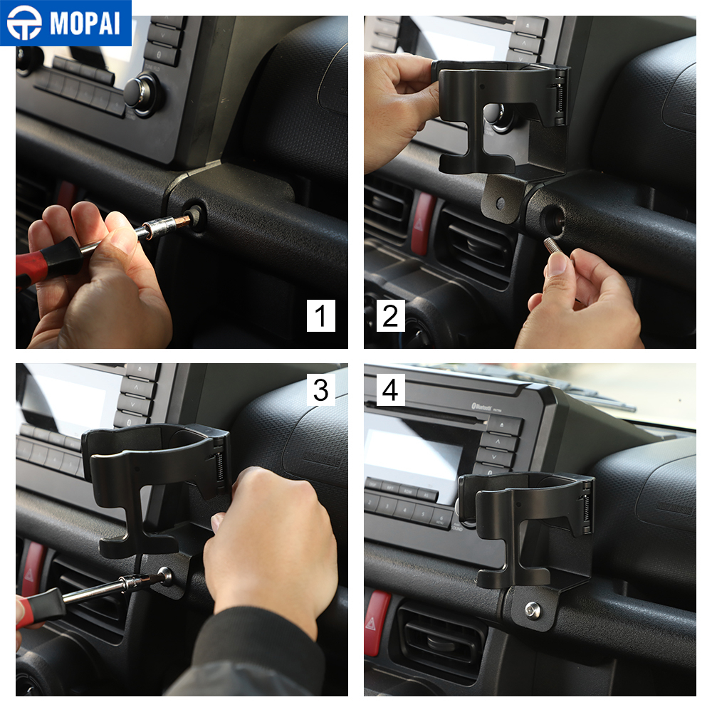MOPAI Universal Car Bracket for Suzuki Jimny 2019+ Car Mobile Phone Bracket Drink Cup Holder Stand for Suzuki Jimny 2019+