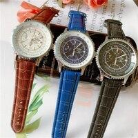 2020 breitling marca de luxo relógio de pulso mecânico dos homens relógios quartzo com pulseira aço inoxidável relojes hombre automático