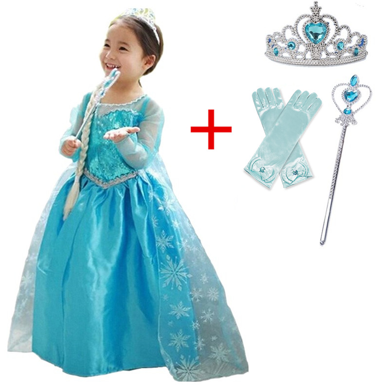 Baby Girl Princess Dress for Girls Childen Clothing Fancy Cosplay Halloween Costume Carnival Party Children Birthday Dress 3
