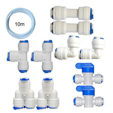 Connect Pipe-Fittings Reverse-Osmosis Water-Pu Straight Tee Bend T-Type Household 100-Gpd