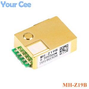 Image 2 - MH Z19 MH Z19B NDIR kızılötesi CO2 sensörü modülü kızılötesi karbon dioksit co2 monitör gaz sensörü 0 5000ppm LART PWM MH Z19B