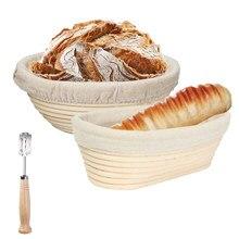 Cesta de fermentação de pão rattan cesta de prova de pão baguette baguette baneton brotform prova cestas ferramenta de cozimento