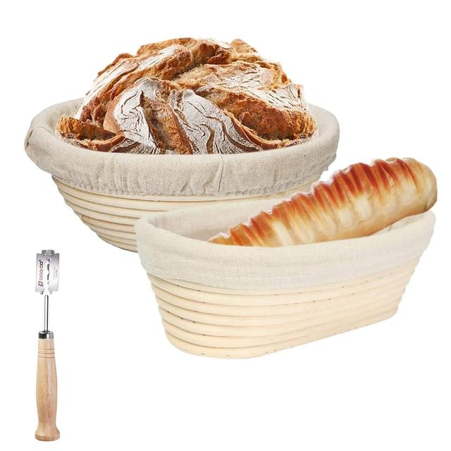 Bread Fermentation Basket Rattan Bread Proofing Basket Dough Baguette Banneton Brotform Proofing Proving Baskets Baking Tool