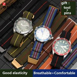 Watchband Parachute-Bag Military-Bracelet Troops General-Wacth-Strap French Nato Elastic