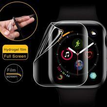 Miękka folia na ekran do zegarka apple 6 5 4 44mm 40mm Iwatch seria 3 2 1 42mm 38mm miękka folia ochronna 9D pełne pokrycie tanie tanio YuiYuKari Z tworzywa sztucznego CN (pochodzenie) Zegarek Przypadki Film HD