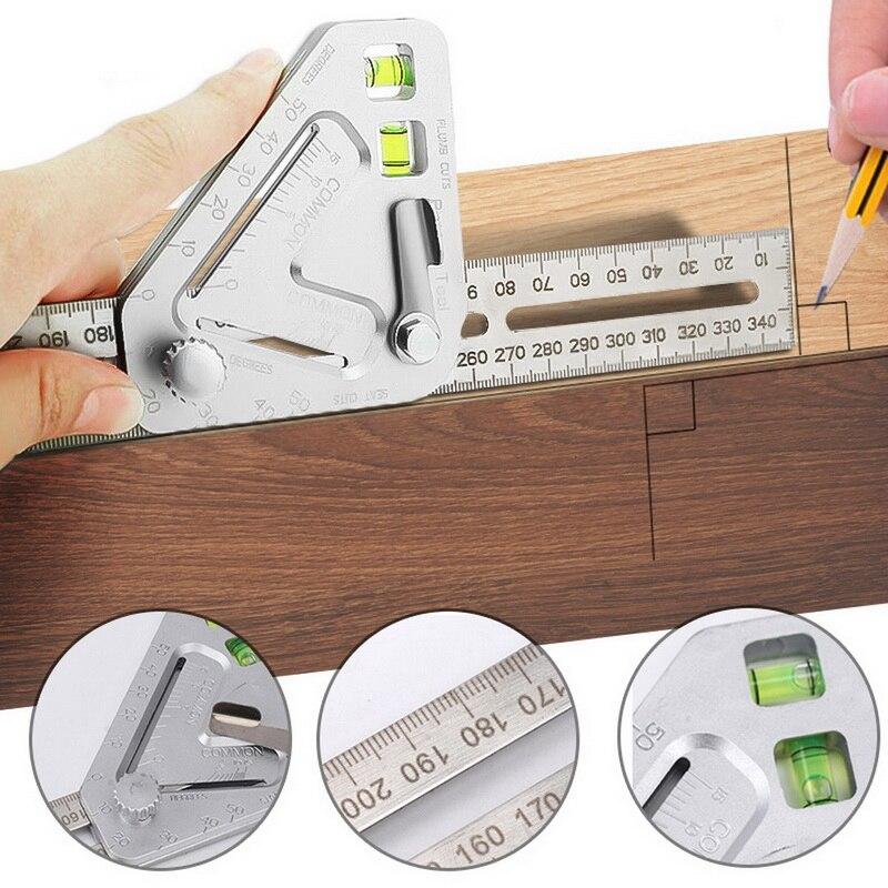 Ferramenta de Medição para Trabalhar Triângulo Régua Multifuncional Carpintaria Ângulo Madeira Mod. 224973
