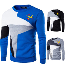 2020 Sweaters Men yellow Seagull+red stars Printed Casual O-Neck Slim Cotton Knitted Mens Sweaters Pullovers Men Brand Clothing