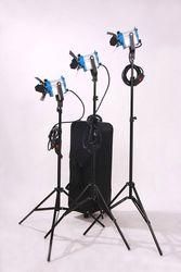 As arri 3* 150W Fresnel Tungsten Spotlights +3*Stands+6*Bulbs+1*Flycase for Video Studio Light Film Light