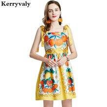Boêmio retro impresso floral verão praia vestido vestidos za verano 2021 magro férias expansível curto vestido de festa k346