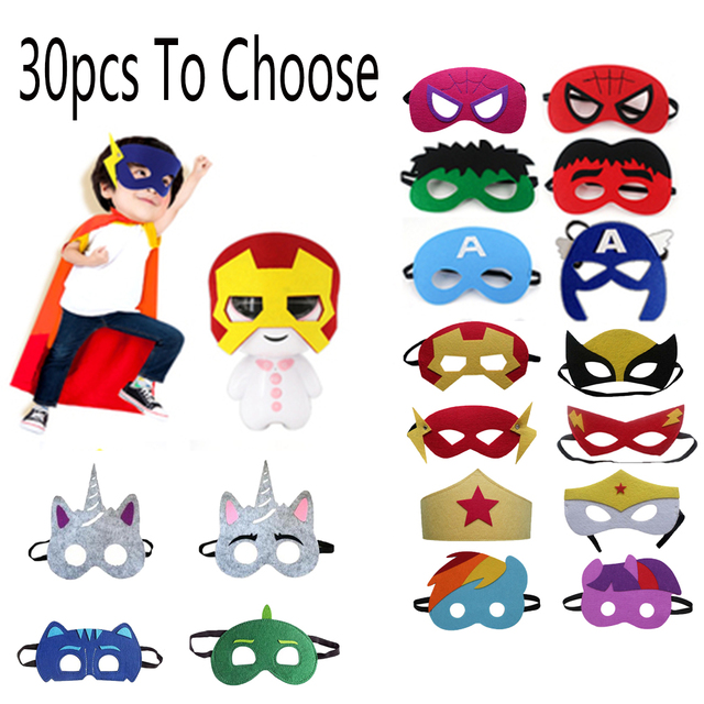 Halloween Super Hero Masks Christmas Birthday Party Dress up Costume Cosplay Mask For Kids Children Party Favor Gift