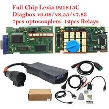 Melhor lexia3 completa chip diagbox v7.83 v9.68 pp2000 com 921815c obd2 ferramenta de diagnóstico automático para citroen/peugeot carro até 2020