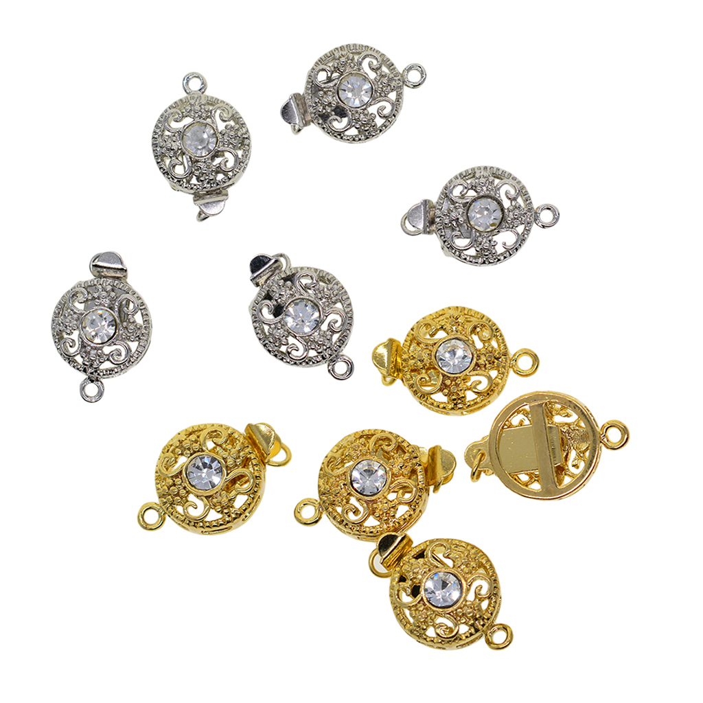 10pcs Filigree Push in Box Clasp for Jewelry Making Bracelet Necklace Clasps