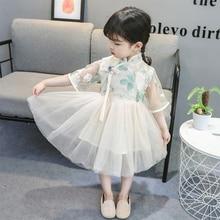 2020 Summe Dress For Kids Girls Dress Green Cotton Skirt Che