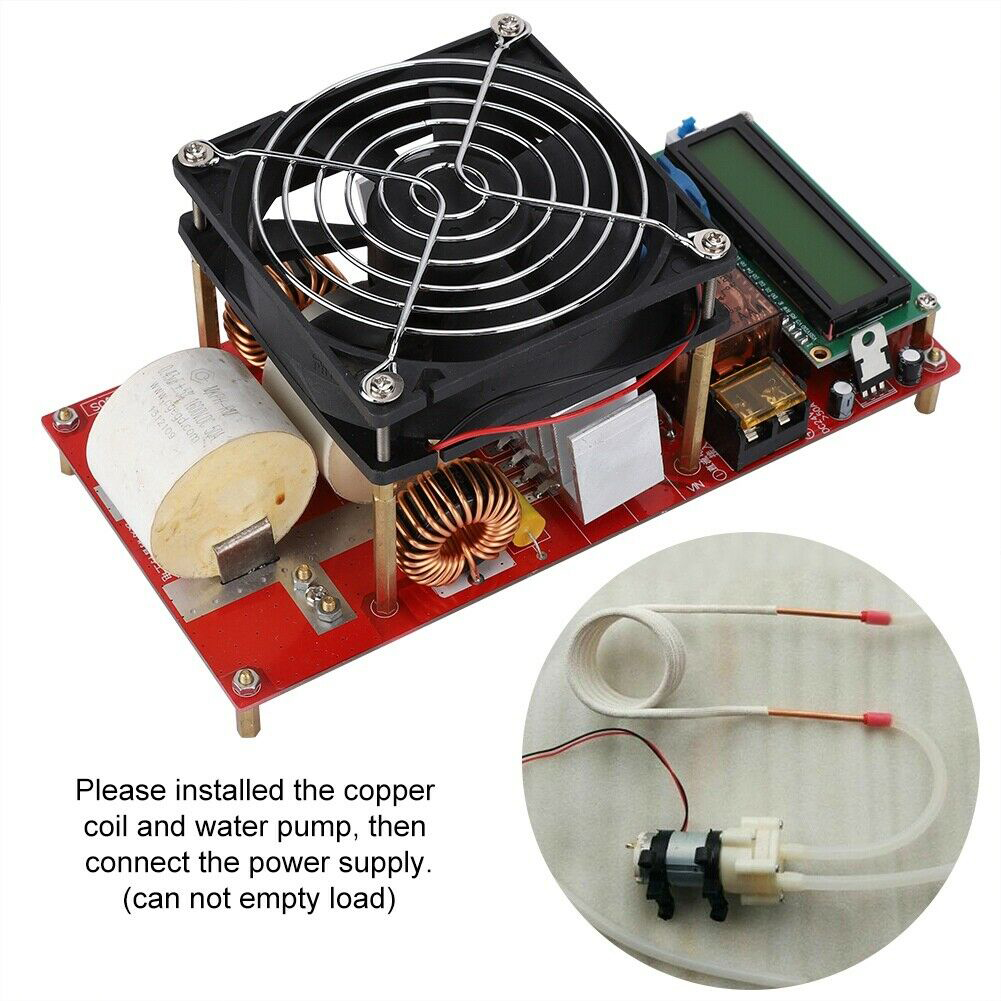 ZVS 2000W With Coil Electric Generator Durable Tool Induction Heater Module Melt Metals Adapter High Voltage Board Copper Pipe