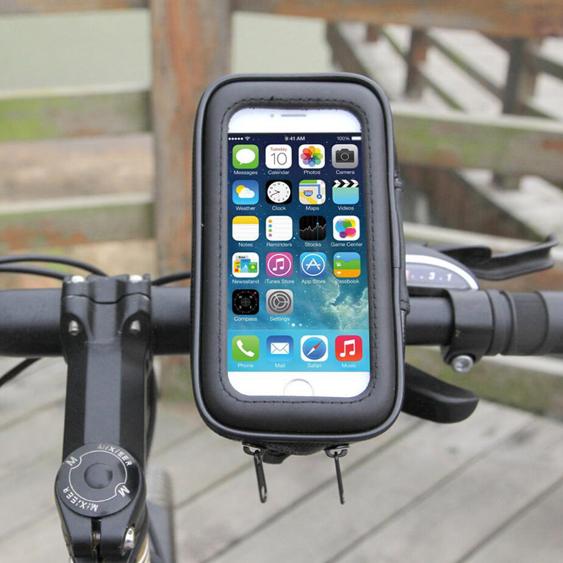 Waterproof Bicycle <font><b>Bike</b></font> Motorcycle Mount Mobile <font><b>Phone</b></font> <font><b>Holder</b></font> Case for Samsung Galaxy S8 S9 Note 10 Plus Note 9 Water proof Bags image