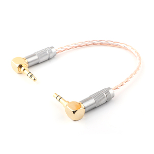 Image 3 - HIFI AUX Cable 8Cores OCC 3.5mm Male to Male Stereo AUX Cable 3.5 Right Angled for Headphone amplifier audio cable