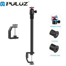 PULUZ Heavy Duty C Clamp Camera Clamp Mount Monopod Rod with 1/4 inch Screw For GoPro HERO9 8 7 6 5 4 3+ 3 2 1/ DJI Osmo Action