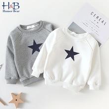 Humor Bear Boy'S Sweater Autumn New Baby Round Neck Coat  Keep Warm Five-Pointed Star Boys Girls Baby Kids Children'S Clothing