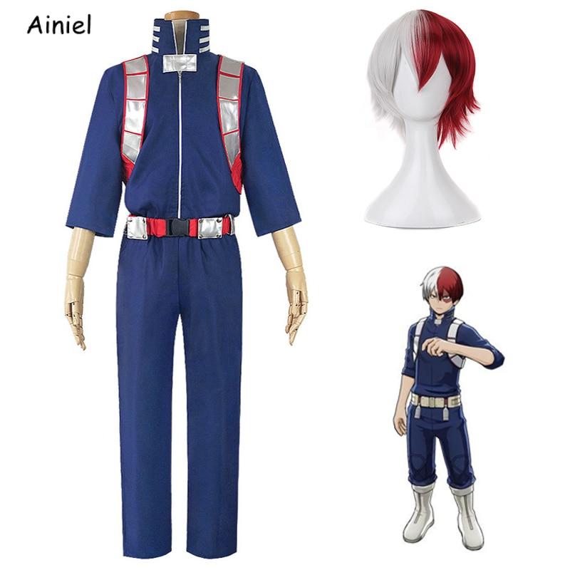 My Hero Academia Cosplay Costume Uniforms Todoroki Shoto  Gym Clothes TOP+Pants