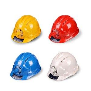 Image 5 - 職場帽子ソーラーパワー調節可能な屋外安全とファンプロテクティブサンスクリーンサイクリング換気セキュリティ建設ヘルメット