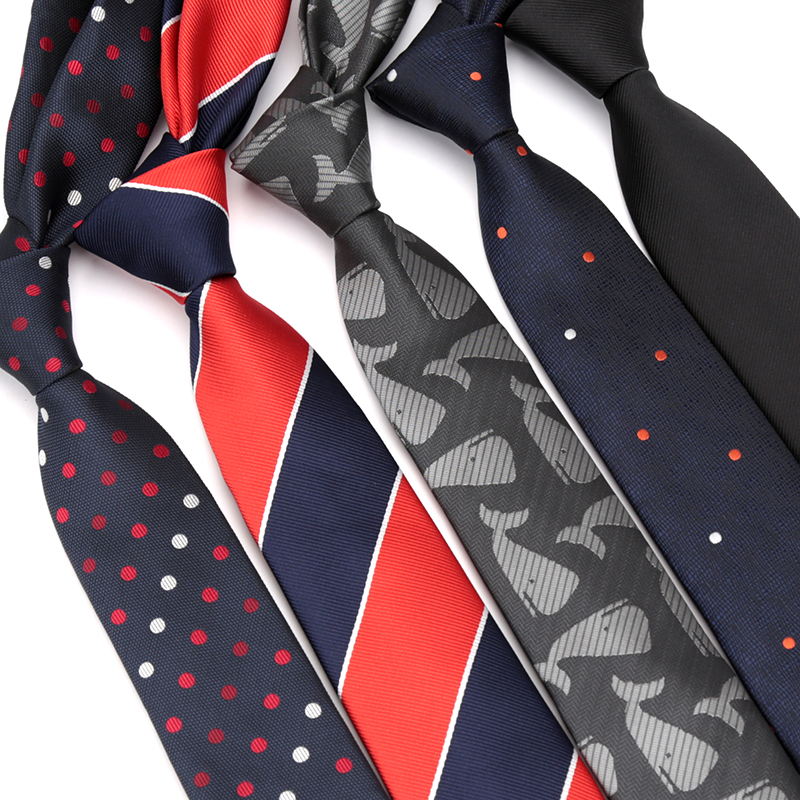 Mens Tie Fashion Skinny Jacquard Ties For Men Necktie Dot Striped Leisure Bowtie Business Dress Wedding Gift Accessories Ties