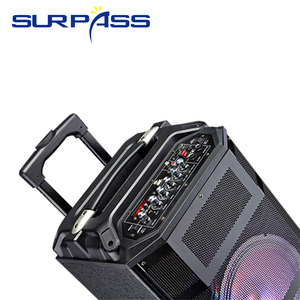 Image 5 - 휴대용 야외 파티 배터리 스피커 오디오 시스템 사운드 활성 Mp3 플레이어 디지털 앰프 손잡이와 10 인치 확성기