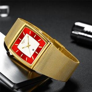 Image 3 - Relogio Masculino NIBOSI Luxus Marke Uhr Männer Edelstahl Mesh Band Quarz Sport Männer Uhr Chronograph Platz Uhr Uhr