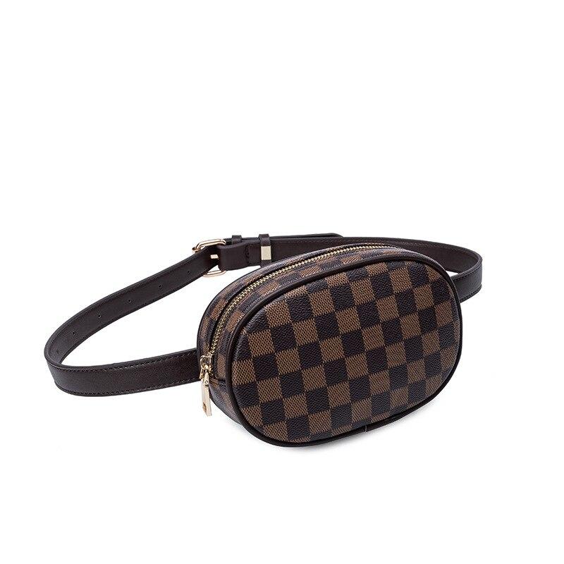 KYYSLO клетчатая дизайнерская Роскошная поясная сумка 2019 модная сумка дикая Мужская и женская сумка-касса индивидуальная маленькая
