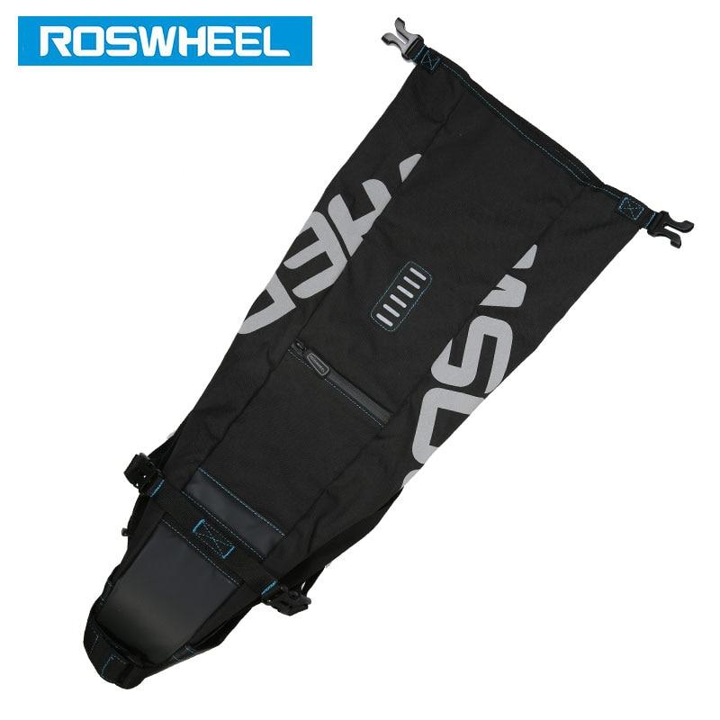 Купить с кэшбэком ROSWHEEL 131414 Bicycle Seatpost Bag Bike Saddle Seat Storage Pannier Cycling MTB Road Rear Pack Water tight Extendable 8L 10L