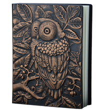Diary Notebook Handmade Embossed Birthday Lined Pages 3D Owl Gift A5 Anniversary Writing Retro PU Leather Vintage Travel Journal