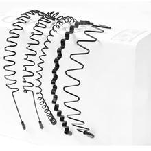 Модные аксессуары для волос черный металл помахать стиль Алиса Спорт повязка на голову для мужчин женщин высокая эластичность