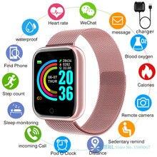Akıllı saat erkekler kadınlar paslanmaz çelik Smartwatch spor izci akıllı saat Android için IOS elektronik Bluetooth akıllı izle