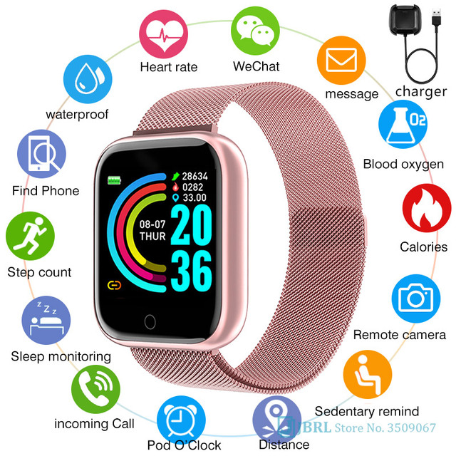 スマート時計メンズレディースステンレス鋼スマートウォッチフィットネストラッカースマート時計アンドロイドiosエレクトロニクススマート腕時計