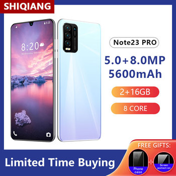 SHIQIANG Note23 Pro Smartphones 6.3Inch 2GB+16GB 5600mAh 5.0+8.0MP Mobile Phones Full Screen Face Unlocked Cell Phones