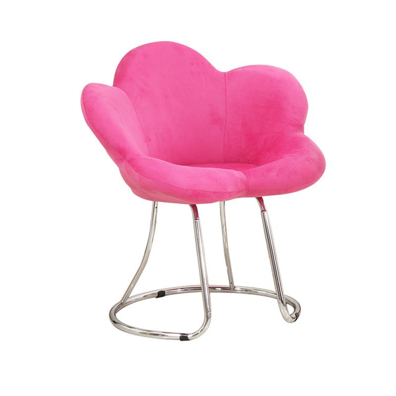 Creative Makeup Chair Modern Minimalist Bar Chair Living Room Lounge Chair Bedroom Princess Pink Cute Beauty Dressing Stool