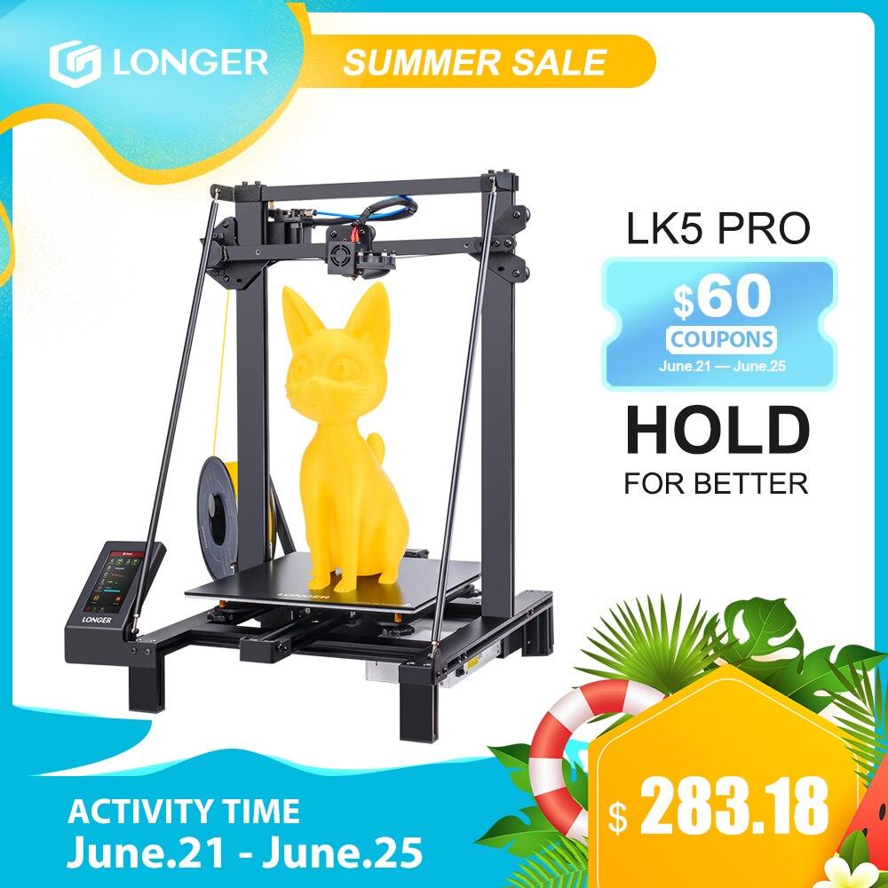 LONGER LK5 Pro FDM 3D принтер размер 300*300*400 мм с открытым исходным кодом 4,3