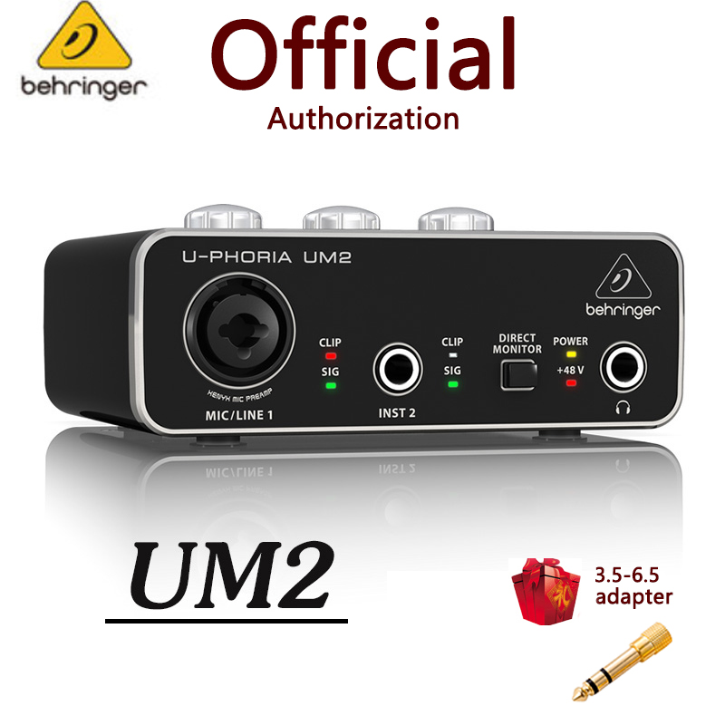 Behringer u phoria um2 umc22, interface audio, micro, amplificateur, enregistrement de guitare, carte son USB externe