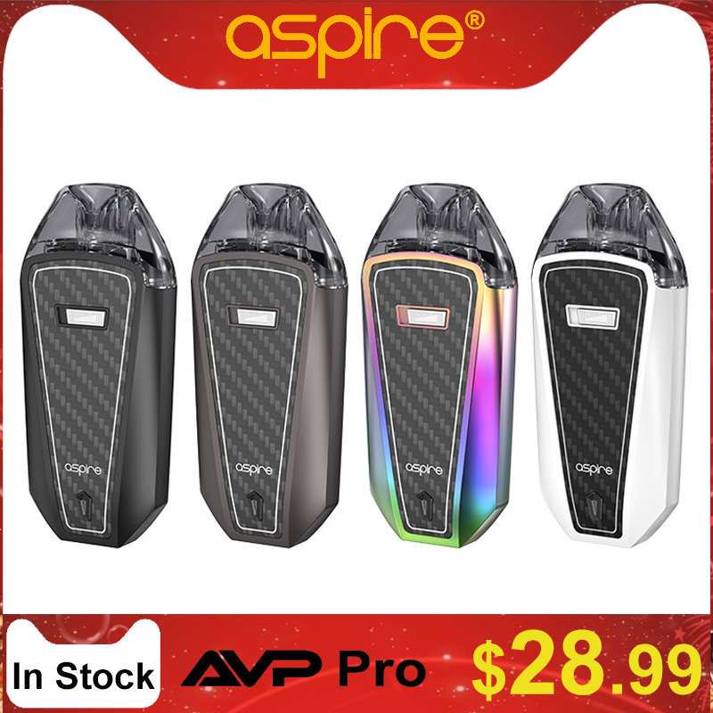 In Stock Aspire AVP Pro Kit Pod System Coil Replaceable And Airflow Adjustable With 1200mAh Buit-in Battery