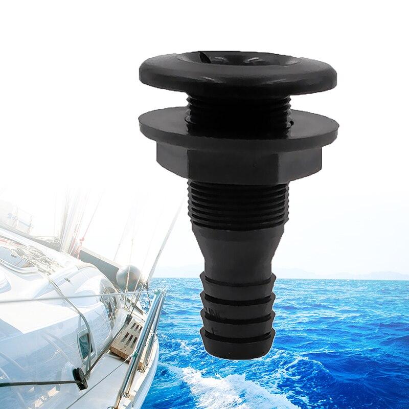 "2x 1/"" /& 3//4/"" Nylon Straight Thru-Hull Hose Plumbing Fitting for Boats Yacht"