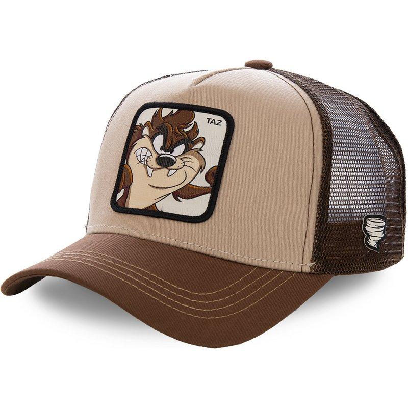capslab-tasmanian-devil-taz2-looney-tunes-brown-trucker-hat