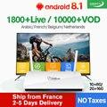 QHDTV 1 Ano Leadcool Europa França Árabe Caixa de IPTV Arábica IPTV Francês Holandês Holanda Bélgica Inteligente Android IP TV Set top Box
