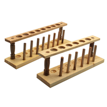 2 pieces/lot Diameter 21mm Wood Test Tube Rack Holes Glass or Plastic Stand for kid Laboratory Equipment