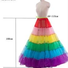 Petticoat Underskirt Crinoline Ball-Gown Hoop Wedding-Dress Multicolor Slip New Long