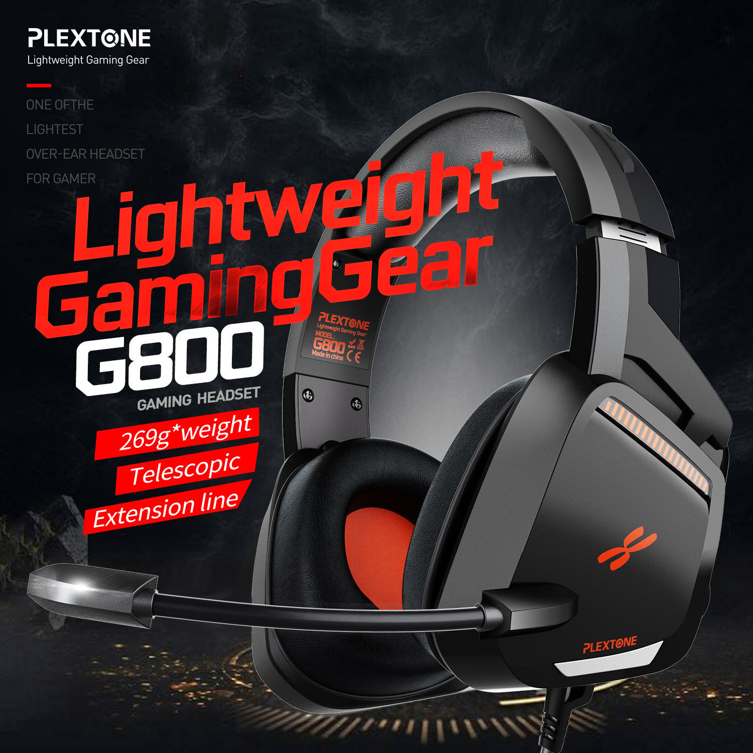 Plextone G800 Gaming Headset Headphones Over Ear Lightweight Headsets With Mic For Ps4 Pc Mobile Phone Headset Gamer Headphone Headset Aliexpress