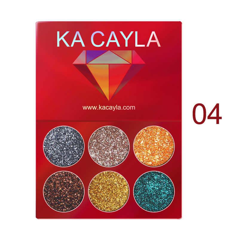 Макияж тени для век палитра для макияжа 6 цветов блестящие тени для век мерцающие тени для век Пудра пигмент корейская косметика TSLM1