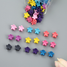 10PCS/Lot Candy Color Baby Hairpin Clip Girl Cute Mini Flower Hair Accessories Child Christmas Gift